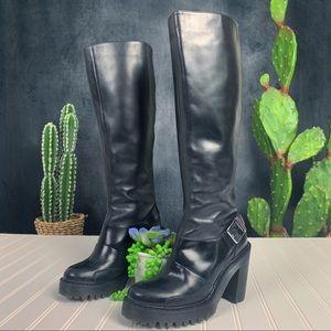 Dr. Martens Lyanna Tall Chunky Heel Boots 6   S413